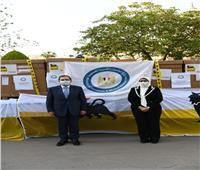 وزيرا البترول والصحة يشهدان تسليم 20 جهاز تنفس صناعي