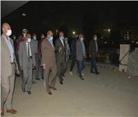 محافظ الجيزة يتفقد أعمال تطوير شارع النيل السياحى| صور