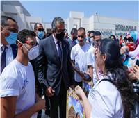 وزير السياحة والآثار يلتقي 11 طفلاً موهوبًا بالمتحف القومي للحضارة