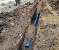 استمرار متابعة تركيب شبكة الغاز الطبيعي والمباني التعليمية بقرى أشمون