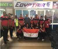 مصر للطيران تستقبل منتخب مصر للكيك بوكسينج بالكاميرون