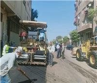 تطوير طريق «شارع سوق الثلاثاء» بالقناطر الخيرية بالقليوبية