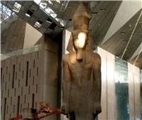 يزن 83 طناً و ارتفاعه 12 متراً.. تمثال رمسيس الثاني في المتحف الكبير