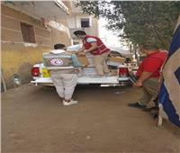 قوافل الهلال الأحمر تغزو قرى محافظة المنوفية