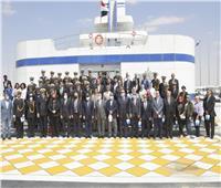 الفريق أسامة ربيع يستقبل وفد الأكاديمية العربية للعلوم والتكنولوجيا والنقل البحري