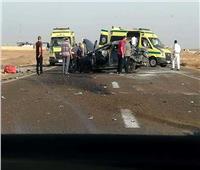 مصرع وإصابة 4 أشخاص في انقلاب سيارة بـ «صحراوي» أسوان