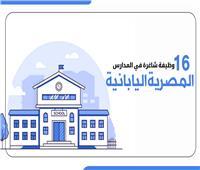 إنفوجراف |  16 وظيفة شاغرة في المدارس المصرية اليابانية