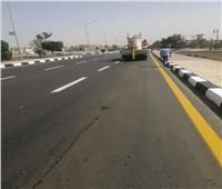 رفع كفاءة محور «مصر النور» بطول 6.5 كم بالعاشر من رمضان