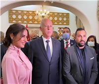أبرزهم درة ومعلول.. النجوم في حفل استقبال الرئيس التونسي بالقاهرة  صور