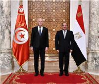 الرئيس السيسي يودع نظيره التونسي بمطار القاهرة