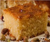حلويات رمضانية| «بسبوسة الدايت» بجوز هند بطريقة خفيفة سهلة