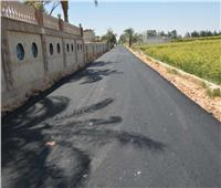 رصف طريق الكمال العمدة بالمنيا ضمن مبادرة «حياة كريمة»