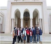 طلاب جامعة عين شمس في زياره للعاصمة الإدارية الجديدة