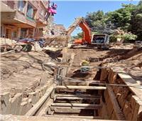 استكمال أعمال الصرف الصحي والكهرباء في الحوامدية بالجيزة