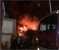 حريق هائل يلتهم مقهي بـ«المنيا»