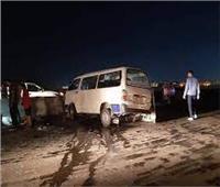 إصابة ٦ أشخاص في تصادم مروع بين سيارتين ميكروباص بطريق دسوق دمنهور