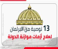 إنفوجراف   13 توصية من البرلمان لعلاج أزمات موازنة الدولة