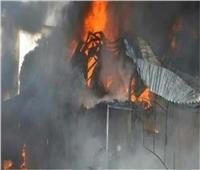 ماس كهربائي وراء حريق مقهى في المنيا