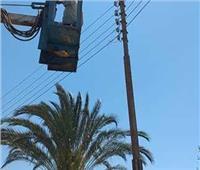 رفع 195 طن مخلفات وإنارة 24 كشاف كهربائي في المنيا