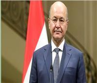 الرئيس العراقي يدين استهداف مطار أربيل