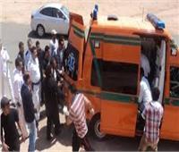 إصابة شاب في حادث تصادم على طريق الصعيد الزراعي بالمنيا
