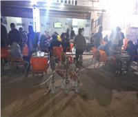غلق وتشميع مقهى يقدم الشيشة في الطالبية بالجيزة  صور