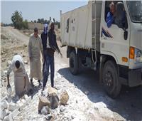 إزالة تشوينات من الطوب الأبيض داخل المحمية الطبيعية لقرية الشغب بالأقصر