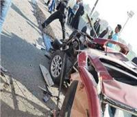 مصرع وإصابة 3 أشخاص في حادث تصادم بالصف