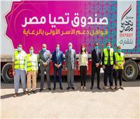 «تحيا مصر»: قافلة «أبواب الخير» تصل محافظة الجيزة | صور