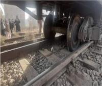 خروج قطار ركاب عن القضبان في طوخ