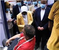 وزيرة الصحة: وضع كافة إمكانيات مستشفيات القليوبية لرعاية مصابي قطار طوخ