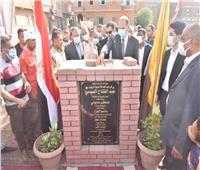 محافظ أسيوط يضع حجر أساس مشروع صرف صحي قرى مركز منفلوط
