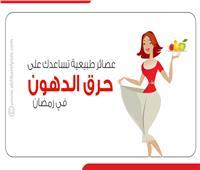 إنفوجراف| عصائر طبيعية تساعدك على حرق الدهون في رمضان