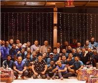 مسؤولو نادي البنك الأهلي يجتمعون مع لاعبي الفريق وجهازهم الفني