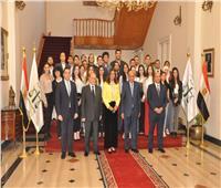 وزيرة الهجرة ووفد من المصريين بالخارج في زيارة لمجلس الدولة