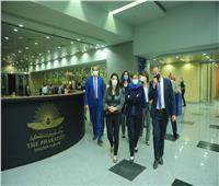 المشاط تصطحب رئيسة البنك الأوروبي في زيارة للمتحف القومي الحضارة .. فيديو وصور