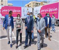 132 طن مواد غذائية لـ 10 آلاف أسرة من قافلة صندوق تحيا مصر بالإسكندرية