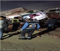 مصرع سائق وإصابة 2 في حادث تصادم قطار بسيارة نقل في السويس
