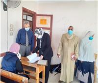 محافظ بني سويف يتابع سير امتحانات شهر أبريل