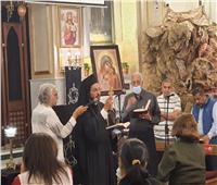الأنبا باخوم يترأس صلاة البصخة المقدسة بكنيسة مصر الجديدة