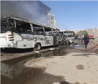 المعاينة الأولية بحريق جراج شبرا الخيمة بالقليوبية.. تفحم 11 سيارة