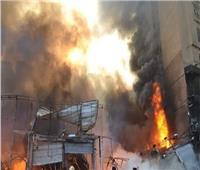 محافظة القليوبية: خسائر بالملايين في حريق جراج عربات وتفحم 11 سيارة
