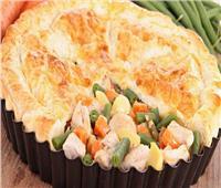 فطار رمضان   طريقة تحضير فطيرة الدجاج بالخضار