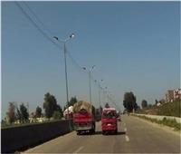 سيولة مرورية بالدائري والطريق الزراعي في محافظة القليوبية