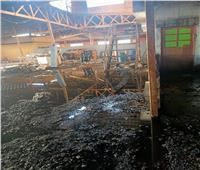 وزير القوي العاملة يتابع حريق أحد مصانع إنتاج اللحوم ببورسعيد