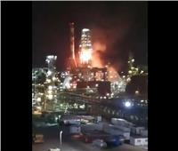 اندلاع حريق كبير في مصفاة نفط بمدينة حيفا.. فيديو