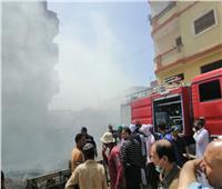 السيطرة على حريق بـ 3 حظائر للماشية وتفحم ١٠ رؤوس ماعز وبقرتين | صور
