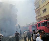 إصابة ٤ أشخاص فى حريق مخزن بالبحيرة