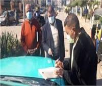 320 محضرا لمواطنين لم يلتزموا بارتداء الكمامات في بني سويف