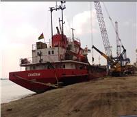 شحن 3200 طن صودا كاوية وتفريغ 3500 طن رخام بميناء غرب بورسعيد